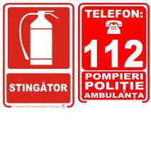 Indicatoare de securitate pentru paza si stingerea incendiilor PSI
