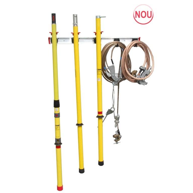 Suport modular pentru depozitarea echipamentelor de lucru si protectie