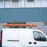 Tub pentru transportul prajinilor