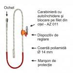 Mijloc de legatura cu dispozitiv de reglare a lungimii - tip PROT 3 (D=14mm)