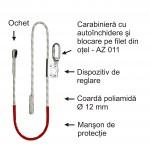Mijloc de legatura cu dispozitiv de reglare a lungimii - tip PROT 11 (D=12mm)